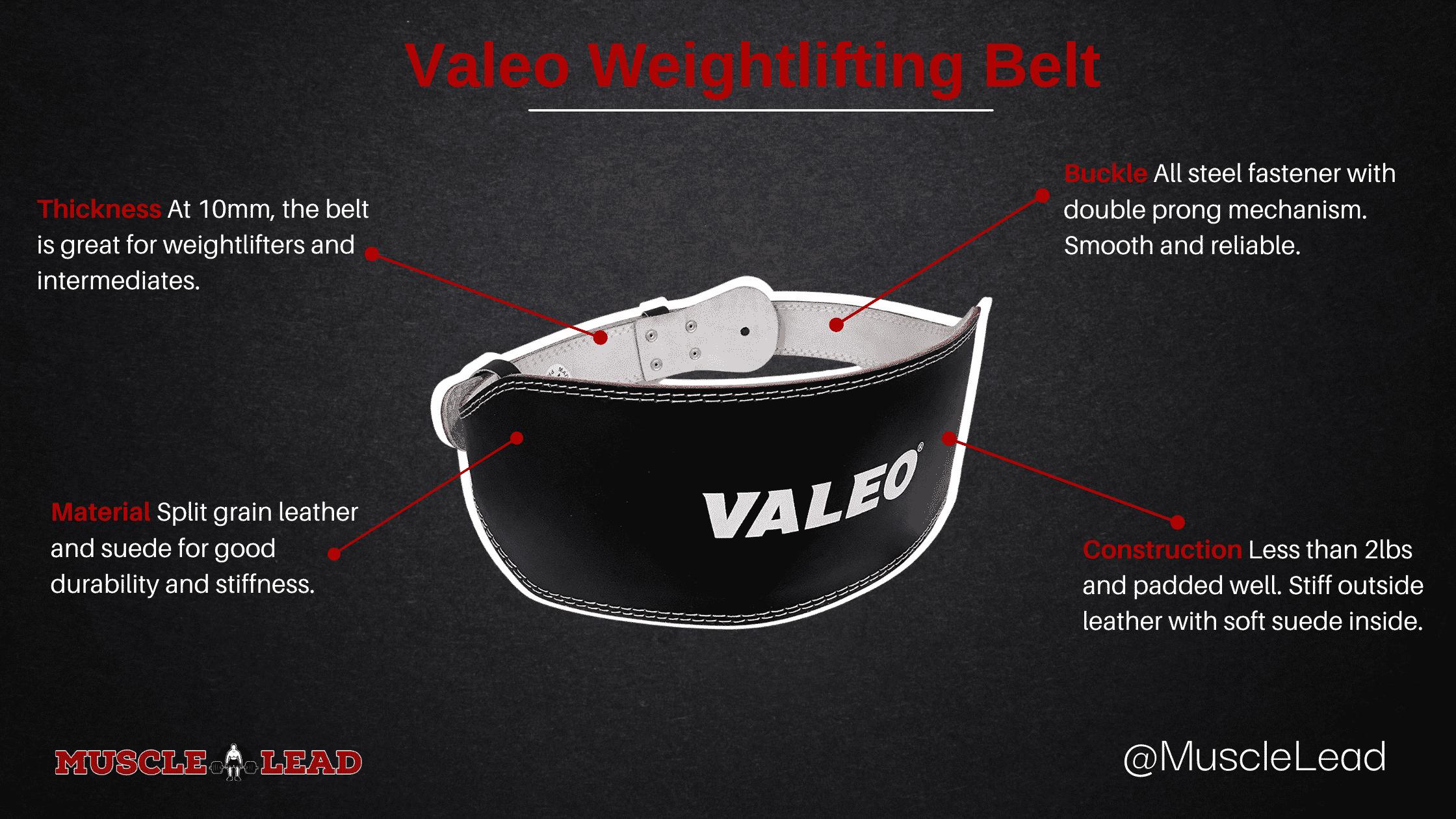 valeo weightlifting belt overview